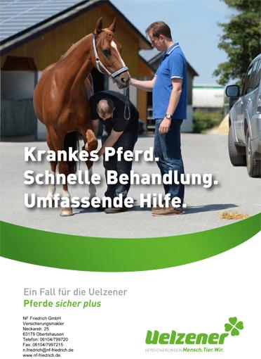 Pferde sicher plus_Plakat Pferdeversicherung